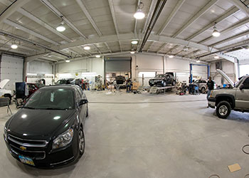 Garage interior panorama